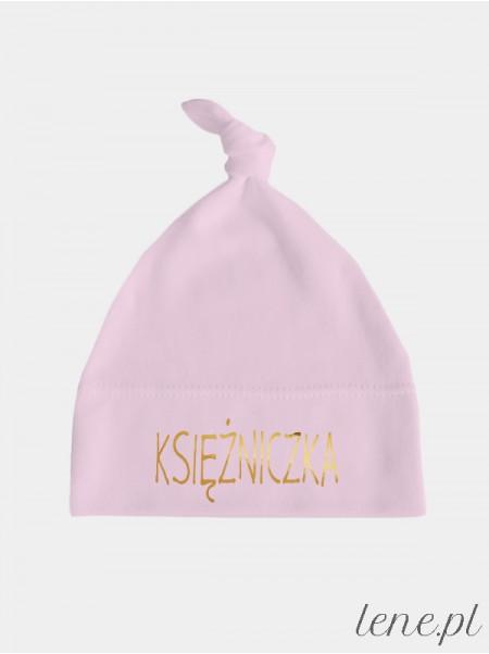 Złoty Napis Księżniczka - czapka dla niemowlaka dziewczynki