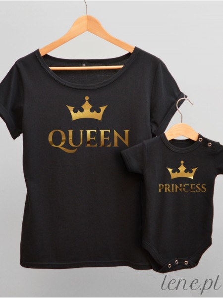 Queen and Princess - komplet bluzka i body