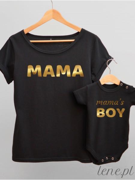 Dla Mamy i Syna Nadruk Złoty 02 - komplet bluzka i body