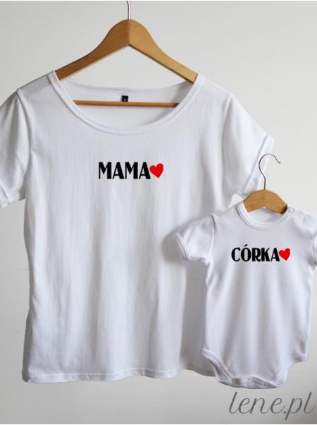Mama i Córka 03 - komplet bluzka i body