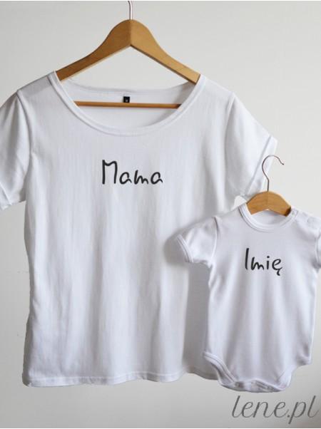 Dla Mamy i Dziecka Z Imieniem - komplet bluzka i body