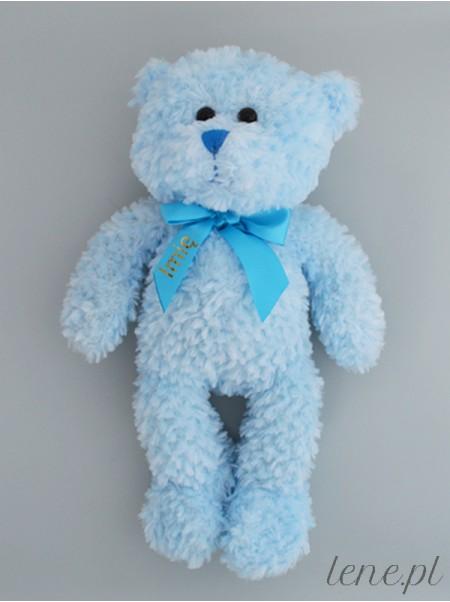 Miś Błękitny Z Imieniem 33 cm