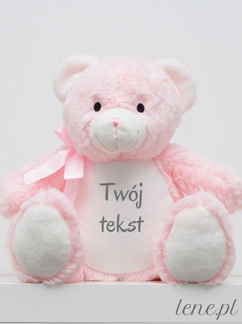 Miś Różowy 40 cm Z Twoim Napisem