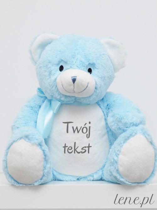 Miś Niebieski 40 cm Z Twoim Napisem