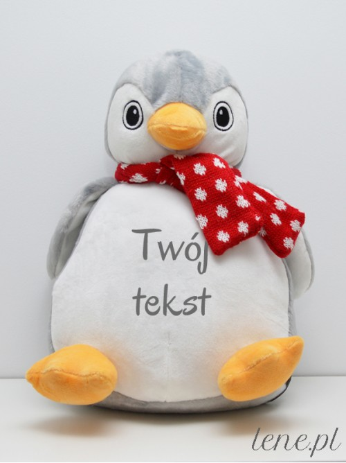 Pingwinek z szalikiem 38 cm Z Twoim Napisem