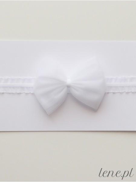 Kokarda Biała z Tiulu - opaska do włosów dla dziewczynki