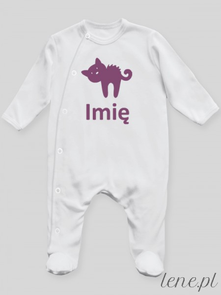 Kotek + Imię 01 - pajac niemowlęcy