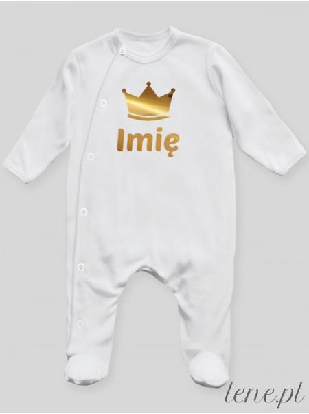 Korona Z Imieniem 01 - pajac niemowlęcy