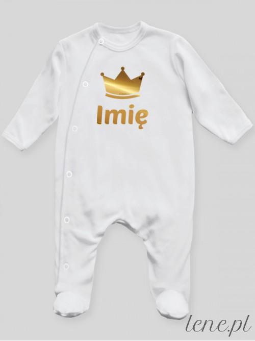 Pajac niemowlęcy Korona + Imię 01