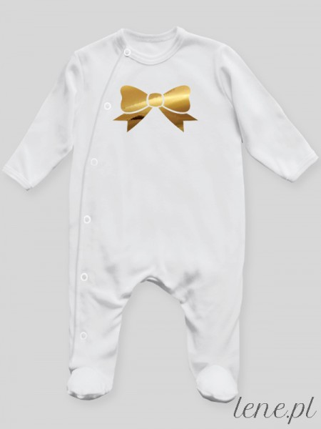 Kokardka Nadruk Złoty - pajac niemowlęcy