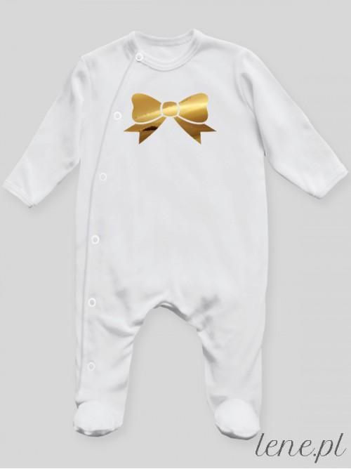 Pajac niemowlęcy Kokardka Nadruk Złoty
