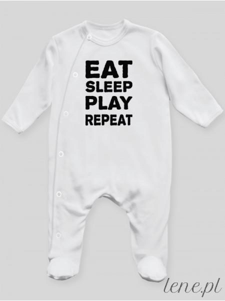 Eat Sleep Play Repeat - pajac niemowlęcy