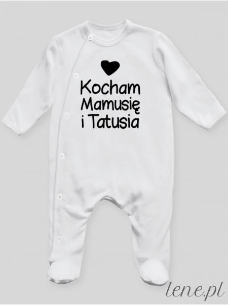 Kocham Mamusię I Tatusia 01 - pajac niemowlęcy