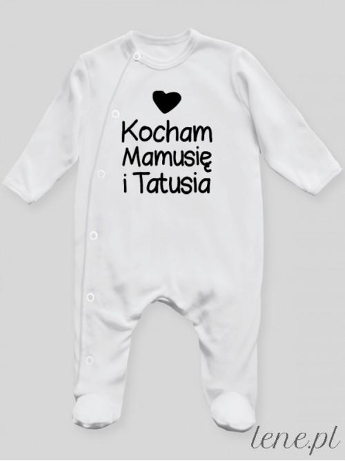Pajac niemowlęcy Kocham Mamusię I Tatusia 01