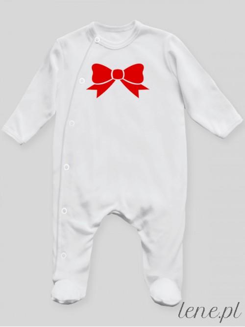 Pajac niemowlęcy Kokardka Czerwona