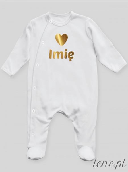 Serduszko + Imię 01 - pajac niemowlęcy