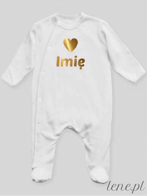 Pajac niemowlęcy Serduszko + Imię 01