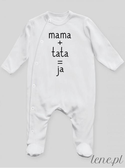 Pajac niemowlęcy Mama Tata Ja