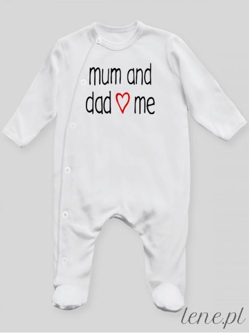Pajac niemowlęcy Mum And Dad Love Me 01