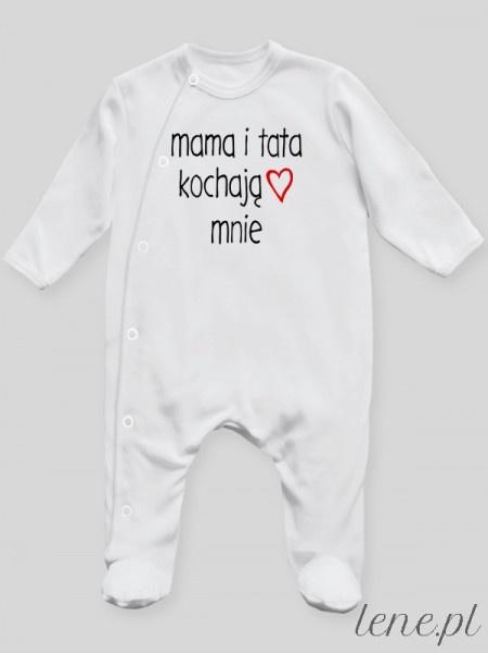 Mama I Tata Kochają Mnie - pajac niemowlęcy