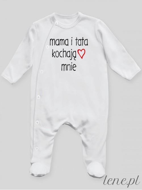 Pajac niemowlęcy Mama I Tata Kochają Mnie