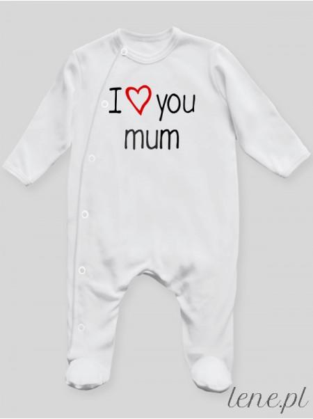 I Love You Mum - pajac niemowlęcy