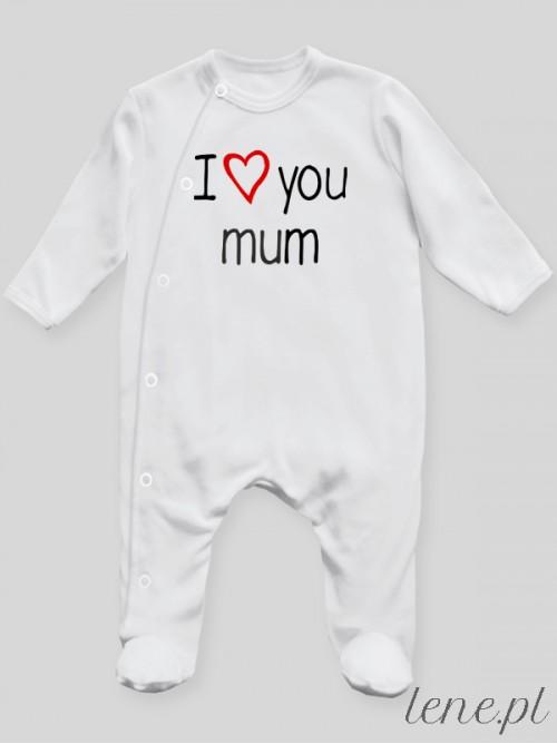 Pajac niemowlęcy I Love You Mum