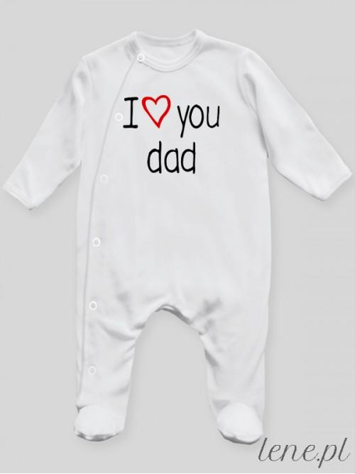 Pajac niemowlęcy I Love You Dad