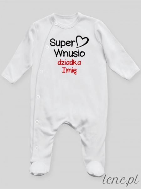 Super Wnusio + Imię Dziadka - pajac niemowlęcy