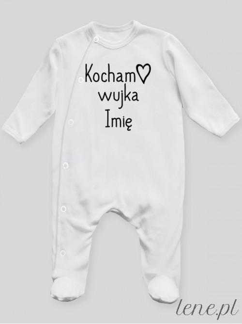 Pajac niemowlęcy Kocham + Imię Wujka