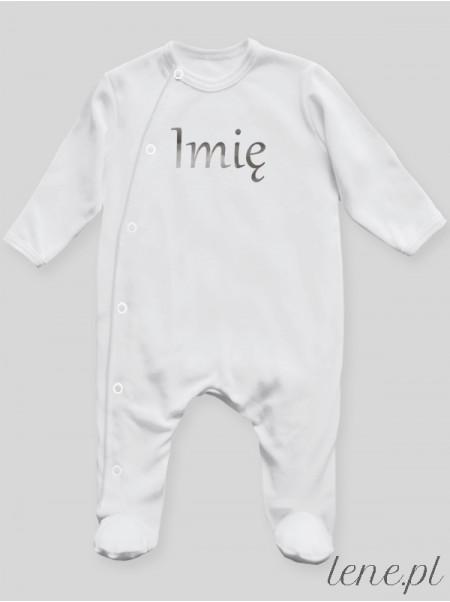 Imię Maluszka Nadruk Srebrny - pajac niemowlęcy