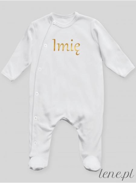 Imię Maluszka Nadruk Złoty - pajac niemowlęcy