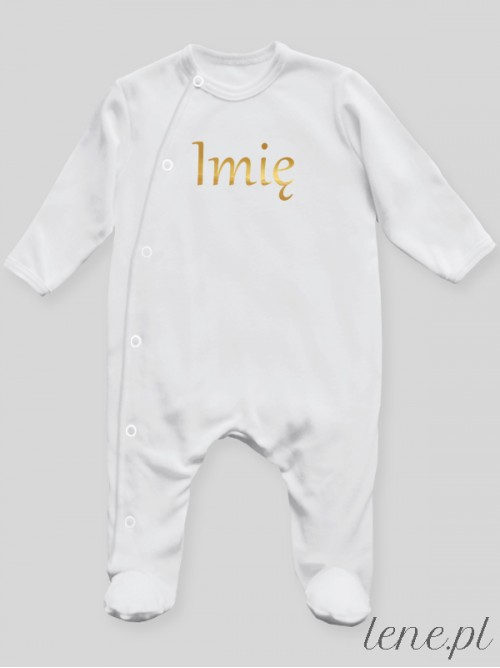 Pajac niemowlęcy Imię Złote