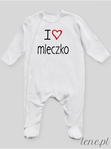 I Love Mleczko - pajac niemowlęcy
