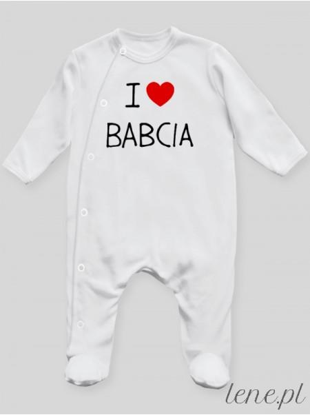 I Love Babcia - pajac niemowlęcy