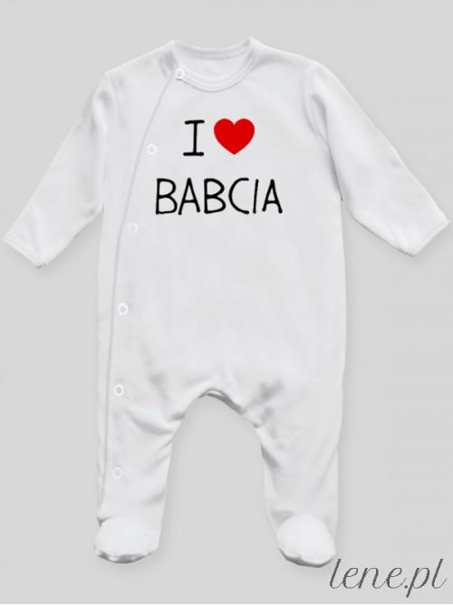 Pajac niemowlęcy  I Love Babcia