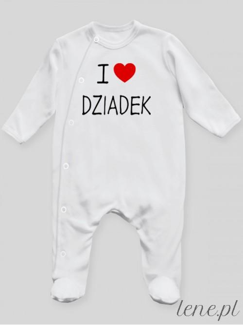 Pajac niemowlęcy  I Love Dziadek