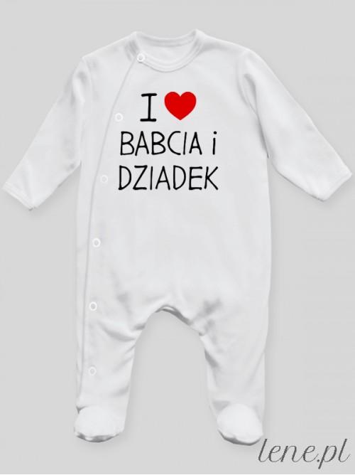 Pajac niemowlęcy  I Love Babcia I Dziadek
