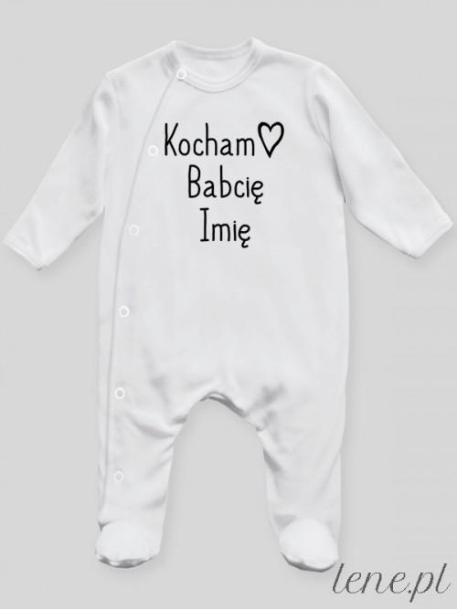 Pajac niemowlęcy  Kocham + Imię Babci