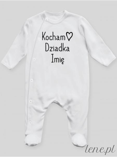 Kocham Dziadka Z Imieniem - pajac niemowlęcy
