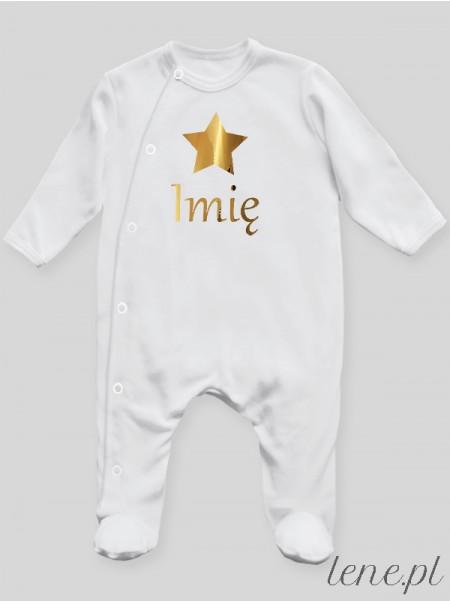 Gwiazdka Złota Z Imieniem - pajac niemowlęcy