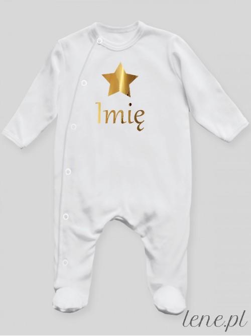 Pajac niemowlęcy  Gwiazdka Złota + Imię