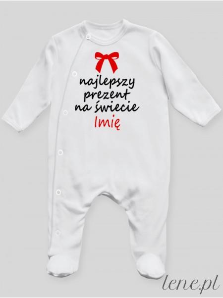 Najlepszy Prezent Na Świecie + Imię - pajac niemowlęcy