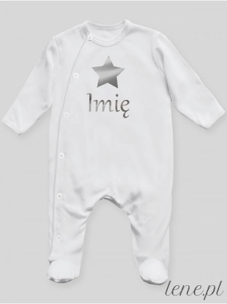 Gwiazdka Srebrna + Imię - pajac niemowlęcy