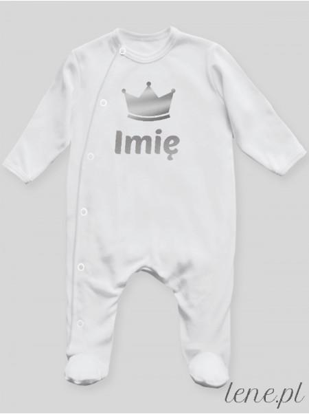 Korona Srebrna + Imię - pajac niemowlęcy