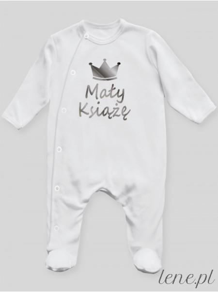 Mały Książę Nadruk Srebrny - pajac niemowlęcy
