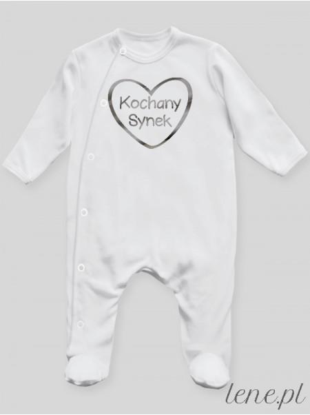 Kochany Synek Nadruk Srebrny - pajac niemowlęcy