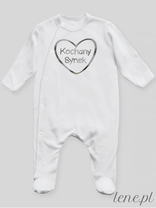 Pajac niemowlęcy  Kochany Synek Nadruk Srebrny