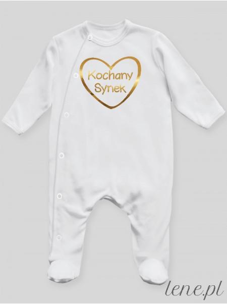 Kochany Synek Z Nadrukiem Złotym - pajac niemowlęcy