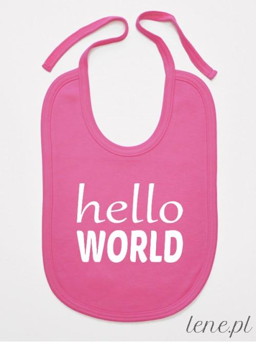 Śliniak niemowlęcy Hello World